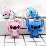 Cute Stitch & Angel Keychain