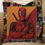 DEADPOOL COMICS FABRIC QUILT
