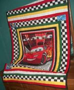 DISNEY CARS FABRIC QUILT