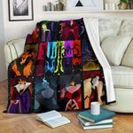 Disney Villains Black Blanket