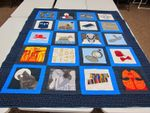 DOCTOR WHO BLUE FABRIC QUILT