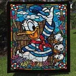 DONALD DUCK AND NEPHEWS FABRIC QUILT