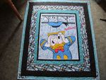 DONALD DUCK FABRIC QUILT