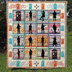 DR WHO FABRIC QUILT