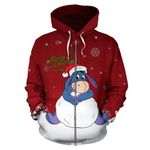 Eeyore Christmas Zip-up Hoodie 1