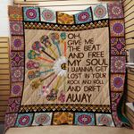 GIVE ME THE BEAT AND FREE MY SOUL FABRIC QUILT