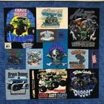 GRAVE DIGGER FABRIC QUILT