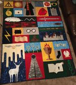 HP ICONS FABRIC QUILT