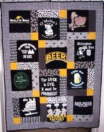 I LOVE BEER FABRIC QUILT