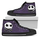 Jack Skellington Disney High Top Canvas Shoes 2