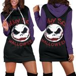 Jack Skellington Halloween Hoodie Dress 9