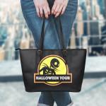 Jack Skellington Halloween Leather Tote Bag 2