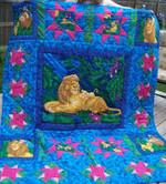 LION KING BLUE FABRIC QUILT