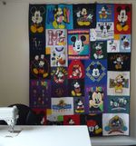 LOVELY MICKEY FABRIC QUILT