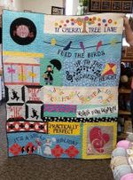 MARY POPPINS FABRIC QUILT