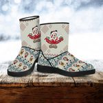 Mickey and Minnie Christmas Faux Fur Boots