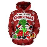 Mickey and Minnie Christmas Hoodie 10
