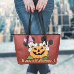 Mickey and Minnie Halloween Leather Tote Bag 1