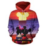 Mickey and Minnie Sunset Hoodie