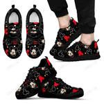 Mickey Black Pattern Sneakers