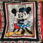 MICKEY HUGGING MINNIE FABRIC QUILT