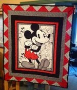 MICKEY MOUSE FABRIC QUILT