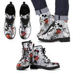 Mickey Pattern Leather Boots
