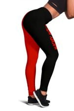 Mickey Red and Black Leggings