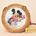 Mickey Round Handmade Rattan Bag