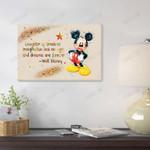 Mickey Watercolor Canvas