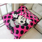 Minnie Mouse Hot Pink Sofa Blanket