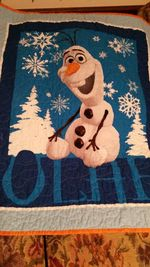 OLAF FROZEN FABRIC QUILT