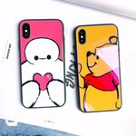 Pooh/Baymax Glass Phone Case