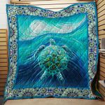 SEA TURTLE FABRIC QUILT