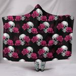 Skull and Rose Hooded Blanket