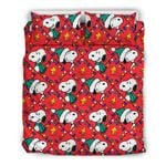 Snoopy and Wood Stock Christmas Bedding Set 1