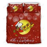 Snoopy and Wood Stock Christmas Bedding Set 2
