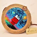 Snoopy Round Handmade Rattan Bag