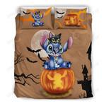 Stitch and Cat Halloween Bedding Set 2