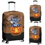 Stitch and Cat Halloween Luggage Cover