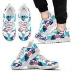 Stitch Christmas Floral Sneakers