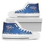 Stitch Christmas High Top Shoes 1