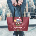 Stitch Christmas Leather Tote Bag 1