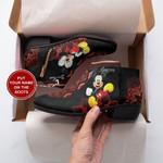 Mickey Mandala Personalized  Fashion Zipper Boots 015