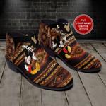 Mickey Mandala Personalized  Fashion Zipper Boots 014