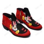Minnie Fashion Zipper Boots 005
