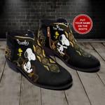 Snoopy Mandala Personalized  Fashion Zipper Boots 016