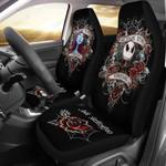 2pcs Jack Skellington & Sally Car Seat Cover 58