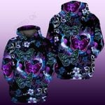 Purple Butterfly 3D All Over Printed Clothes NM160401