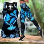 Butterfly legging hollow tanktop combo HG41311